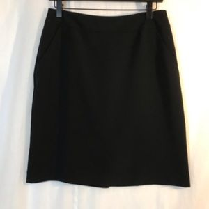 Villager Black Fitted A-Line Skirt